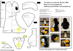 stitching patterns for tux - the linux penguin soft toy